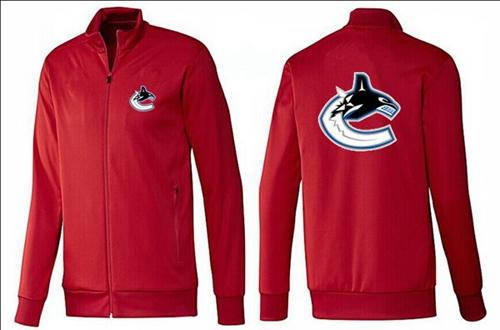 NHL Vancouver Canucks Zip Jackets Red