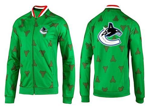 NHL Vancouver Canucks Zip Jackets Green-2