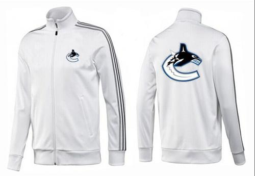 NHL Vancouver Canucks Zip Jackets White-2