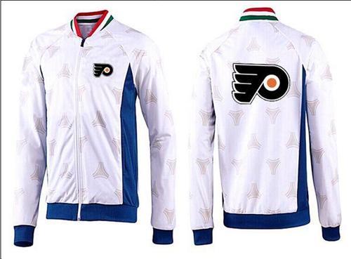 NHL Philadelphia Flyers Zip Jackets White-2