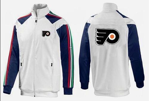 NHL Philadelphia Flyers Zip Jackets White-3