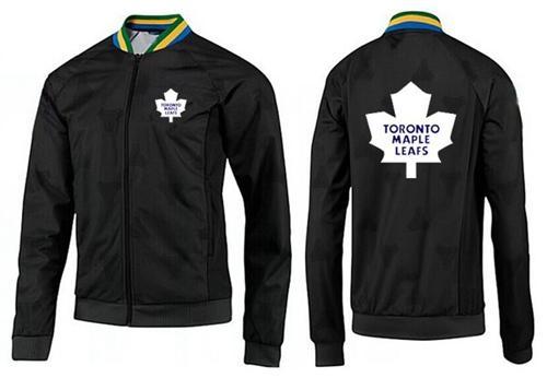 NHL Toronto Maple Leafs Zip Jackets Black-3