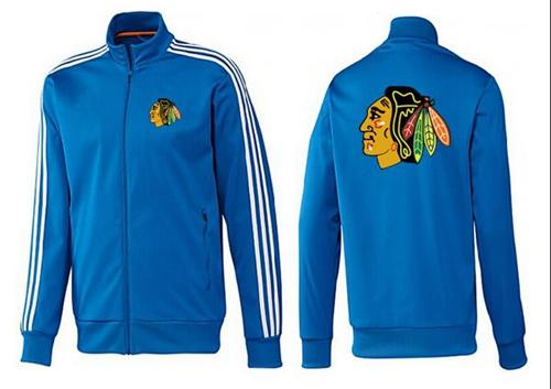 NHL Chicago Blackhawks Zip Jackets Blue-2
