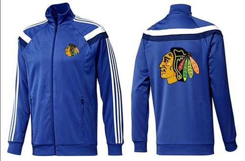 NHL Chicago Blackhawks Zip Jackets Blue-4