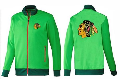 NHL Chicago Blackhawks Zip Jackets Green-1