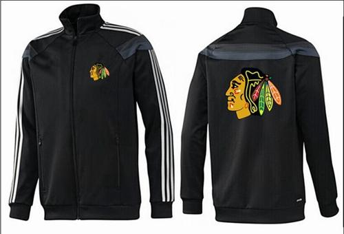 NHL Chicago Blackhawks Zip Jackets Black-2