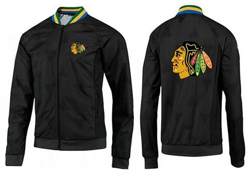 NHL Chicago Blackhawks Zip Jackets Black-3