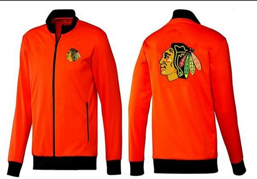 NHL Chicago Blackhawks Zip Jackets Orange-1