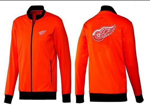 NHL Detroit Red Wings Zip Jackets Orange-1
