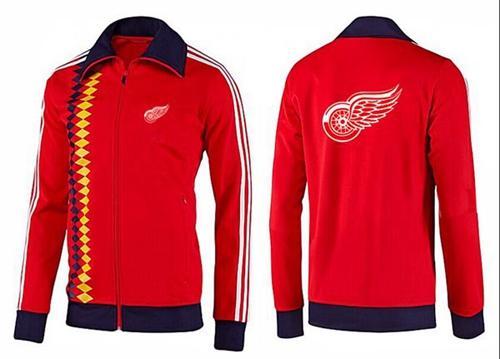 NHL Detroit Red Wings Zip Jackets Orange-2