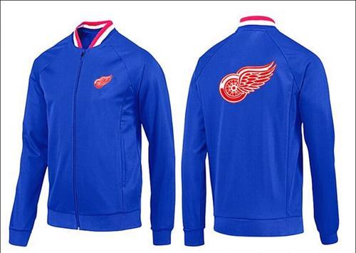 NHL Detroit Red Wings Zip Jackets Blue-1