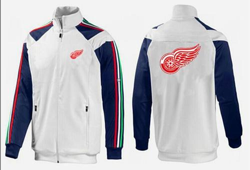 NHL Detroit Red Wings Zip Jackets White-2