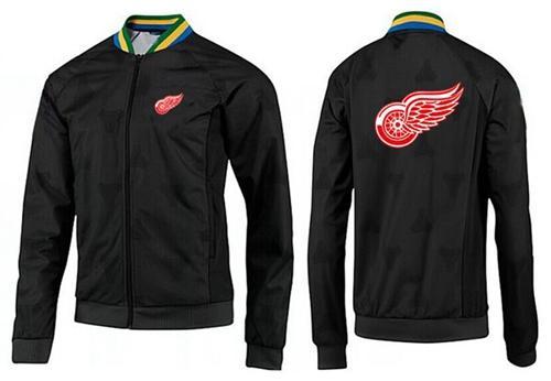 NHL Detroit Red Wings Zip Jackets Black-3