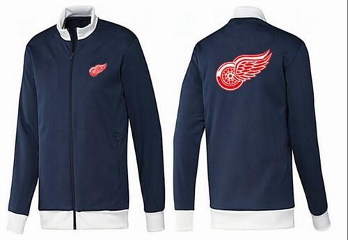 NHL Detroit Red Wings Zip Jackets Dark Blue