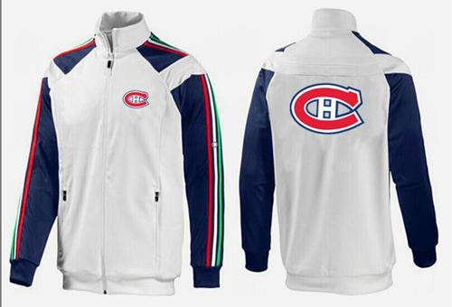 NHL Montreal Canadiens Zip Jackets White-1