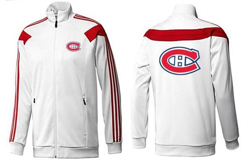 NHL Montreal Canadiens Zip Jackets White-2