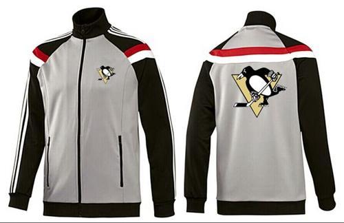 NHL Pittsburgh Penguins Zip Jackets Grey