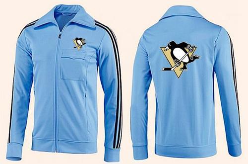 NHL Pittsburgh Penguins Zip Jackets Light Blue