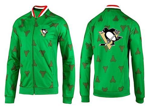 NHL Pittsburgh Penguins Zip Jackets Green-2