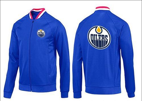 NHL Edmonton Oilers Zip Jackets Blue-1