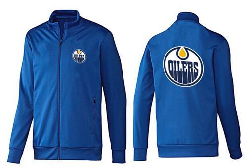 NHL Edmonton Oilers Zip Jackets Blue-2