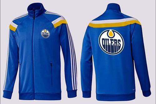 NHL Edmonton Oilers Zip Jackets Blue-3
