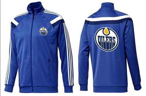 NHL Edmonton Oilers Zip Jackets Blue-4
