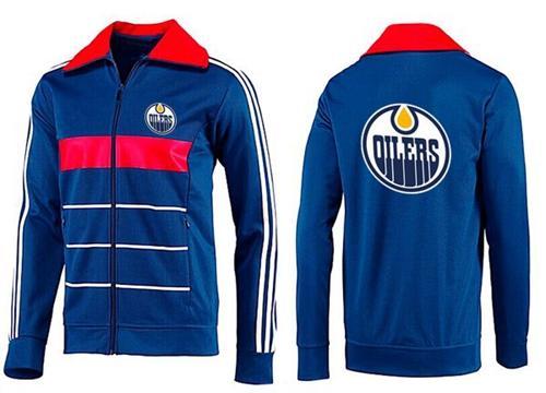 NHL Edmonton Oilers Zip Jackets Blue-5