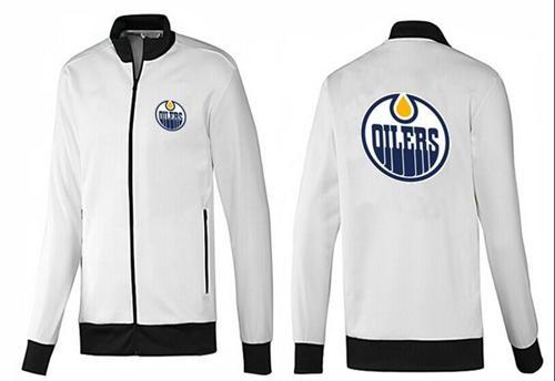 NHL Edmonton Oilers Zip Jackets White-1