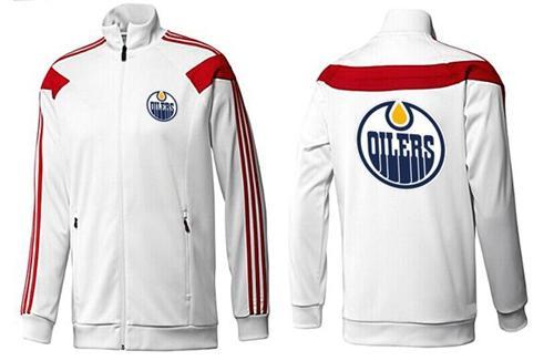 NHL Edmonton Oilers Zip Jackets White-3