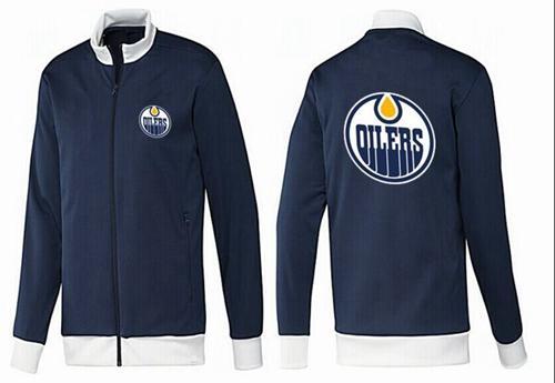 NHL Edmonton Oilers Zip Jackets Dark Blue