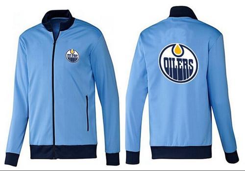 NHL Edmonton Oilers Zip Jackets Light Blue