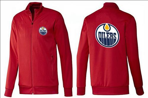NHL Edmonton Oilers Zip Jackets Red