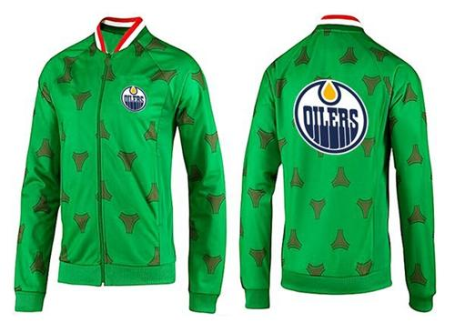 NHL Edmonton Oilers Zip Jackets Green