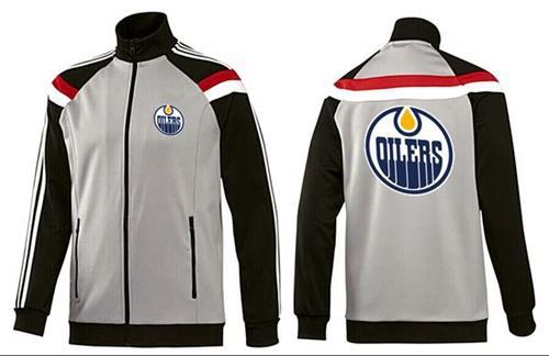 NHL Edmonton Oilers Zip Jackets Grey