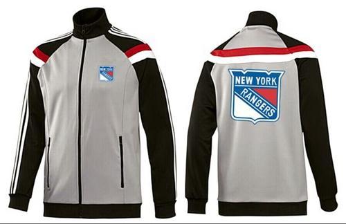 NHL New York Rangers Zip Jackets Grey