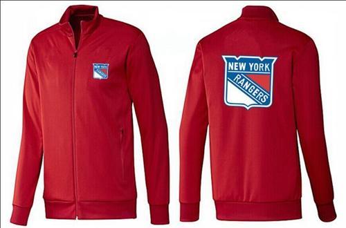 NHL New York Rangers Zip Jackets Red