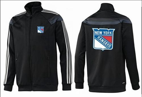NHL New York Rangers Zip Jackets Black-1