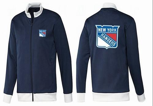 NHL New York Rangers Zip Jackets Dark Blue