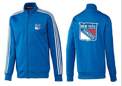 NHL New York Rangers Zip Jackets Blue-3