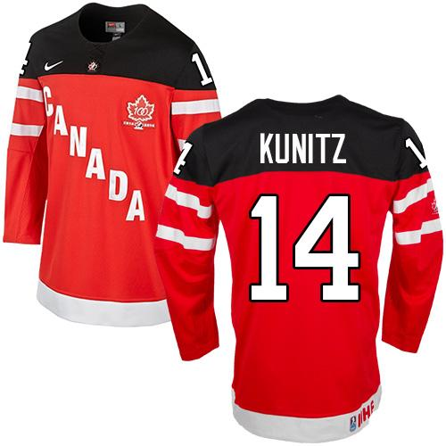 Olympic CA. #14 Chris Kunitz Red 100th Anniversary Stitched NHL Jersey