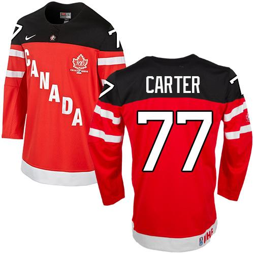 Olympic CA. #77 Jeff Carter Red 100th Anniversary Stitched NHL Jersey