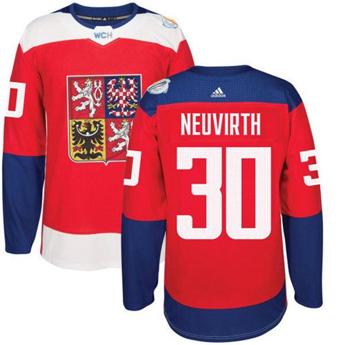 Team Czech Republic #30 Michal Neuvirth Red 2016 World Cup Stitched NHL Jersey