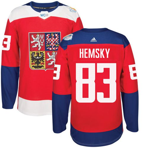 Team Czech Republic #83 Ales Hemsky Red 2016 World Cup Stitched NHL Jersey
