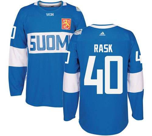 Team Finland #40 Tuukka Rask Blue 2016 World Cup Stitched NHL Jersey
