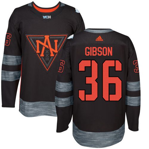 Team North America #36 John Gibson Black 2016 World Cup Stitched NHL Jersey