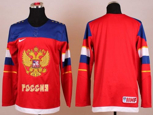 2014 Olympic Team Russia Blank Red Stitched NHL Jersey