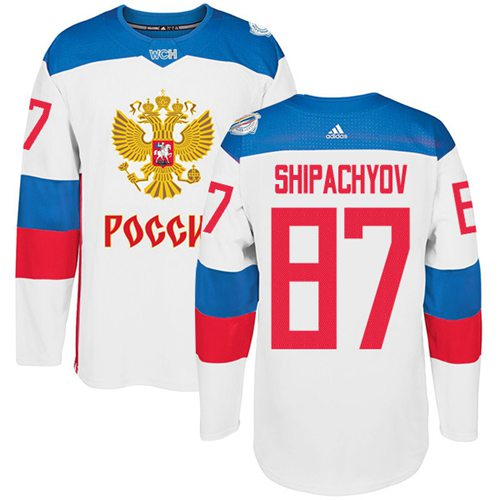 Team Russia #87 Vadim Shipachyov White 2016 World Cup Stitched NHL Jersey