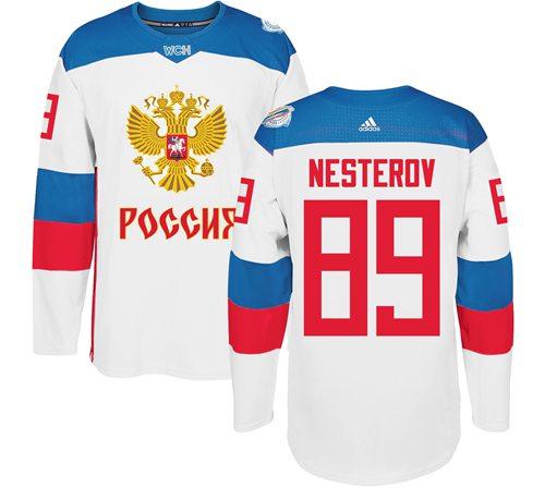 Team Russia #89 Nikita Nesterov White 2016 World Cup Stitched NHL Jersey