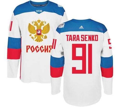 Team Russia #91 Vladimir Tarasenko White 2016 World Cup Stitched NHL Jersey